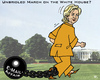 Cartoon: nearly unbridled (small) by RachelGold tagged hillary,clinton,white,house,presidency,election,campeign