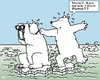 Cartoon: Trusting in the Summit (small) by RachelGold tagged paris,climate,summit,change,warming,icebear