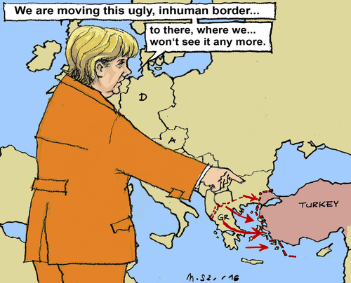 Cartoon: Moving Problems (medium) by MarkusSzy tagged turkey,eu,borders,refugees