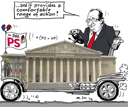 Cartoon: Political Mobility (medium) by MarkusSzy tagged france,elections,hollande,national,assembly