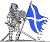 Cartoon: Braveheart 2014 (small) by MarkusSzy tagged scotland,uk,independence,referendum,history,wallace
