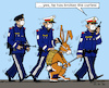 Cartoon: Police State? (small) by MarkusSzy tagged police,state,curfew,restriction,treat,easter,easterbunny
