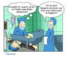 Cartoon: Neulich im OP (small) by ms-illustration tagged op,operation,butler,dumm,gelaufen