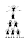 Cartoon: Circus (small) by van der Tipa tagged arena,acrobat,gymnast