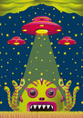 Cartoon: alien toxic invasion (small) by elmoro tagged illustration illustrator digital vector psychedelic trip art