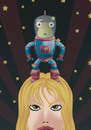 Cartoon: little alien (small) by elmoro tagged illustration vector illustrator drawing girl