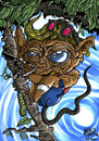 Cartoon: Hristo The Tarsier (small) by Nayer tagged tarsier,mokey,animals,cute,criminal,drugs,dope,pistol,weird