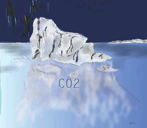 Cartoon: co2 (medium) by cgill tagged melting,co2,climate,floods,starvation,desert