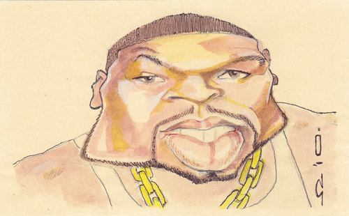 Cartoon: 50 cent (medium) by zed tagged curtis,james,jackson,usa,music,rapper,portrait,caricature