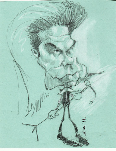 Cartoon: Nick Cave (medium) by zed tagged cave,nick,australia,musician,performance,artist,portrait,caricature