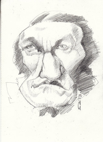 Cartoon: richard wagner (medium) by zed tagged richard,wagner,leipzig,germany,composer,opera