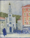 Cartoon: my town (small) by zed tagged my,town,st,francis,catholic,church,split,croatia
