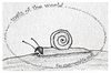 Cartoon: the unacceptable snail - no.9 (small) by schmidibus tagged schnecken welt schrecken inakzeptabel diktator ungeheuer