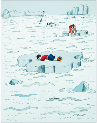 Cartoon: Never feel cold... (medium) by firuzkutal tagged refugee,eu,crisis,youth,aylan,syria,esad,merkel,quota,sea,north,pole,dead,refugee,eu,crisis,youth,aylan,sea,greenland,north,pole,dead