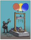 Cartoon: Guillotine (small) by B V Panduranga Rao tagged guillotine