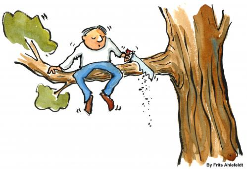 Cartoon: Creating change (medium) by Frits Ahlefeldt tagged change,tree,branch,quitting,new,different