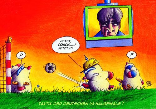 Cartoon: Halbfinaleinzug (medium) by Jupp tagged maulwurf,mole,fussball,soccer,semifinal,jupp,cartoon