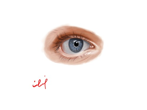Cartoon: Draw eye Portrait (medium) by yara tagged draw,eyes