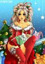 Cartoon: Merry XMas (small) by Marie Sann tagged christmas,xmas,woman,girl,sexy,winter