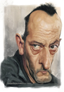 Cartoon: Jean Reno (small) by slwalkes tagged jean,reno,leon,digital,painting,wacom,stephen,lorenzo,walkes,actor