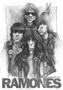 Cartoon: Ramones by Stephen L Walkes (small) by slwalkes tagged ramones,doopsiejoint,caricature,stephenlorenzowalkes