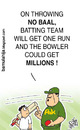 Cartoon: Noball Funda!! (small) by bamulahija tagged pakistan,cricket,cartoon,spot,finxing