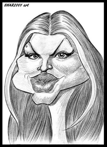 Cartoon: Fergie (medium) by shar2001 tagged fergie,caricature