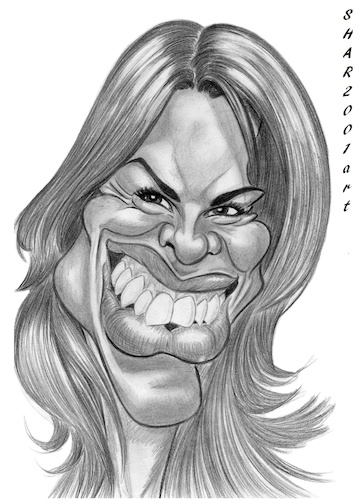 Cartoon: Hilary Swank (medium) by shar2001 tagged caricature,hilary,swank