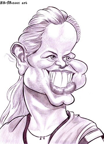 Cartoon: Kim Clijsters (medium) by shar2001 tagged clijsters,kim,caricature