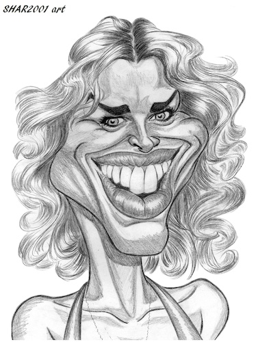 Cartoon: Rebecca Romijn (medium) by shar2001 tagged caricature,rebecca,romijn