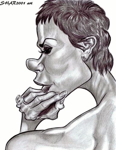 Cartoon: Victoria Beckham (medium) by shar2001 tagged beckham,victoria,caricature