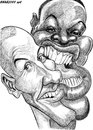 Cartoon: Omar et Fred (small) by shar2001 tagged caricature,omar,fred,french,tv