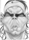 Cartoon: Rafael Nadal (small) by shar2001 tagged caricature,rafael,nadal