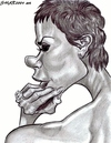 Cartoon: Victoria Beckham (small) by shar2001 tagged caricature,victoria,beckham