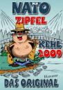 Cartoon: Der Natogipfel (small) by BARHOCKER tagged natozipfel,strasbourg,kehl,uwe,ott,ottdesign,barhocker