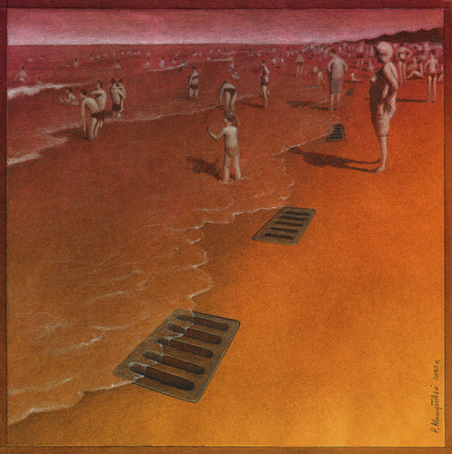Cartoon: Beach (medium) by pkuczy tagged beach
