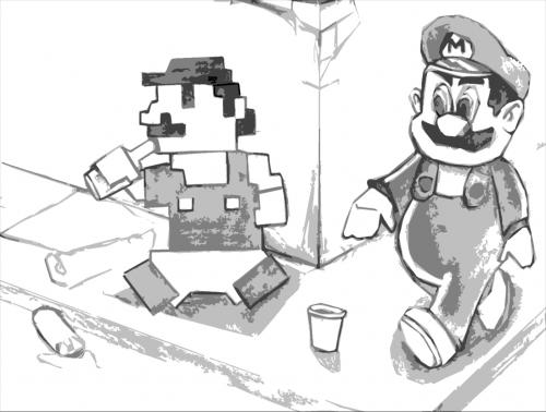 Cartoon: Marios (medium) by Playa from the Hymalaya tagged super,mario,video,game,alcoholic