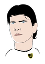 Cartoon: Mario Gomez (small) by Playa from the Hymalaya tagged mario,gomez,deutsche,nationalmannschatf,german,germany,national,team,dfb,fußball,fussball,football,soccer,world,cup,wm,2010,spieler,player,stürmer,striker,sport,fc,bayern,münchen,munich,bundesliga