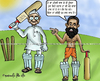 Cartoon: Anna Hazare and Ramdev Sath Sath (small) by gursharanthecartoonist tagged baba ramdev anna hazare bahrishtachaar lok pal bill punjabi