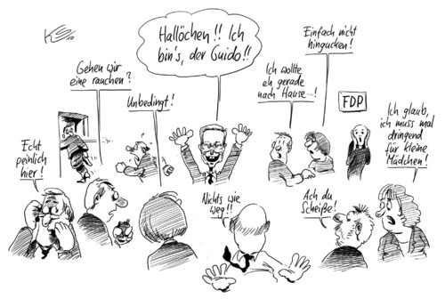 Cartoon: Hallöchen! (medium) by Stuttmann tagged fdp,westerwelle,fdp,guido westerwelle,guido,westerwelle