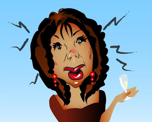 Cartoon: Oprah Winfrey at a party sloshed (medium) by remyfrancis tagged oprah,winfrey,vector,adobe,illustrator,photoshop,illustration,drawing,party,woman,lady