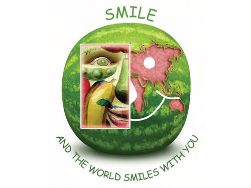 Cartoon: Smile Food (medium) by remyfrancis tagged food,smile,world,eat,happy