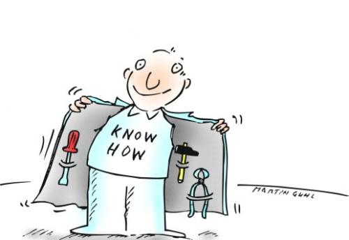 Cartoon: knowhow werkzeuge clever (medium) by martin guhl tagged knowhow,werkzeuge,clever