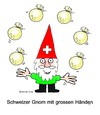 Cartoon: swiss gnom final hand jonglieren (small) by martin guhl tagged swiss,gnom,final,hand,jonglieren,geld