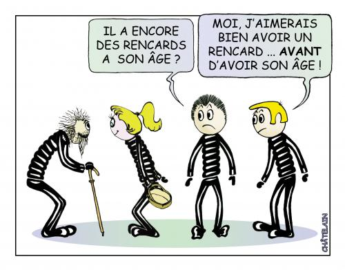 Cartoon: RENCARD (medium) by chatelain tagged rencard,age,chatelain,humour