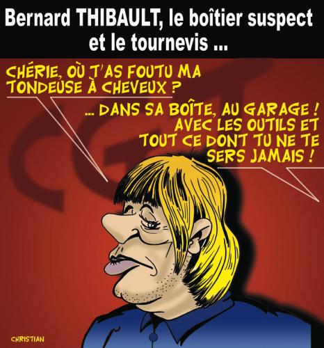 Cartoon: BERNARD THIBAULT et les espions (medium) by CHRISTIAN tagged thibault,bond
