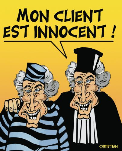 Cartoon: de Villepin avocat ... (medium) by CHRISTIAN tagged de,villepin,avocat