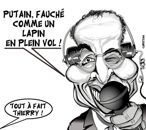 Cartoon: Deces de Thierry ROLAND (medium) by CHRISTIAN tagged thierry,roland,foot,dessin,de,presse