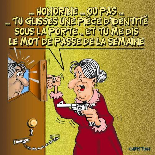 Cartoon: insecurite souci numero un (medium) by CHRISTIAN tagged insecurite