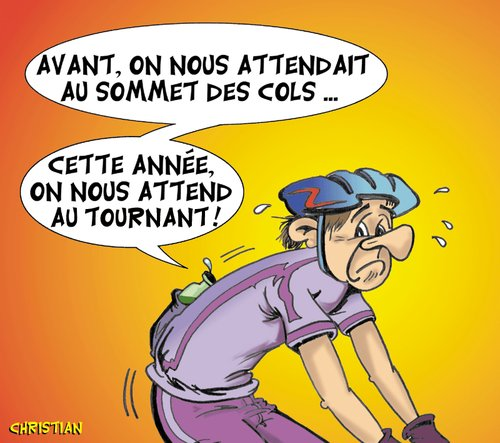 Cartoon: J-2 pour le Tour 2010 ... (medium) by CHRISTIAN tagged tour,de,france,dopage